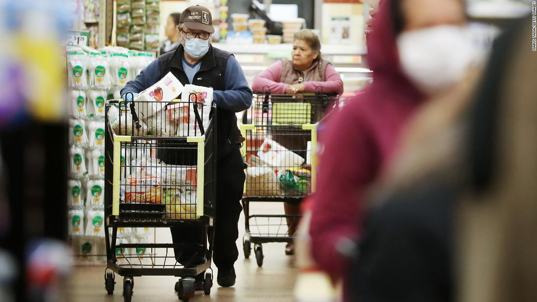 About 20% of grocery store workers had Covid-19, and most didn't have symptoms, study found