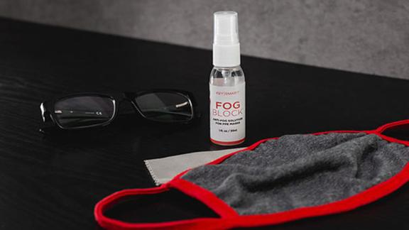 This spray prevents glasses from fogging while wearing a mask thumbnail