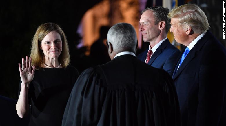 Justice Amy Coney Barrett's confirmation triggers a prime time celebration  by the GOP - CNN