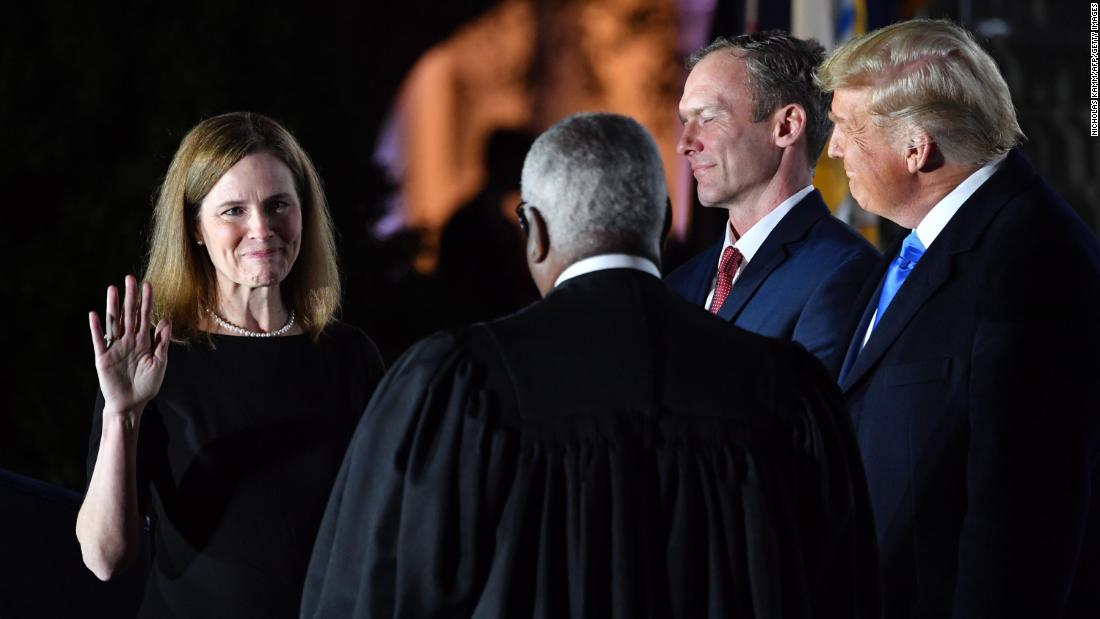 See Amy Coney Barrett get sworn in as Supreme Court Justice