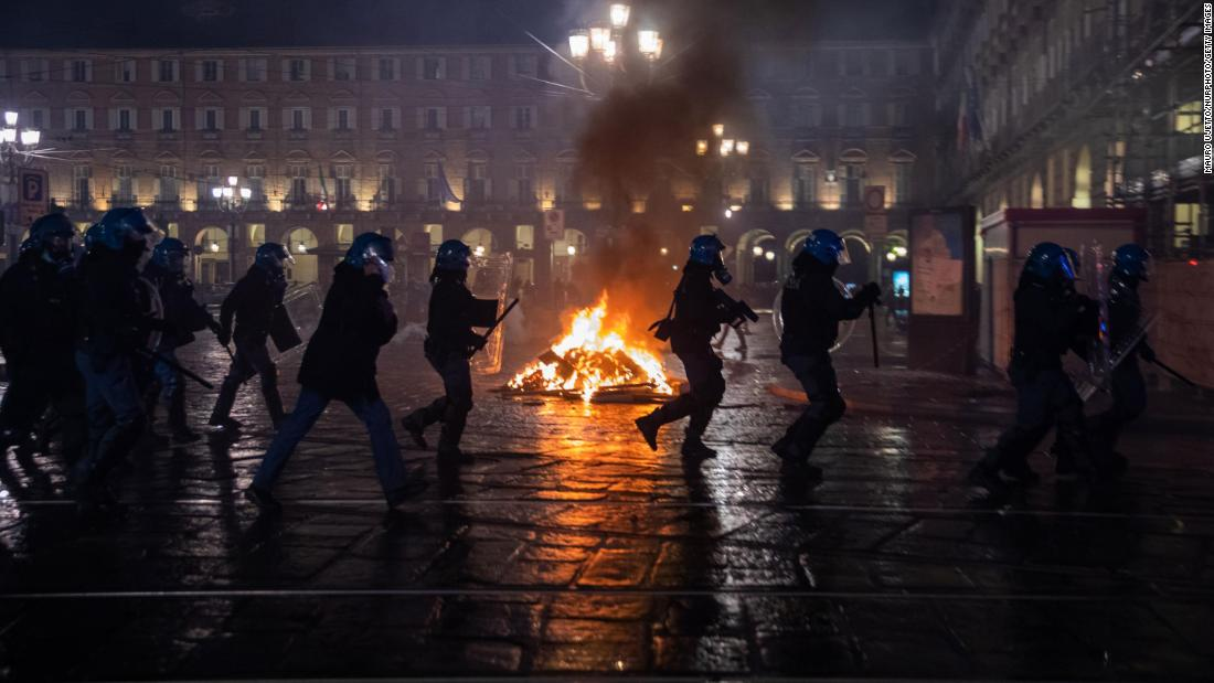 Unrest in Italy as Europe struggles to slow a powerful second wave of Covid-19