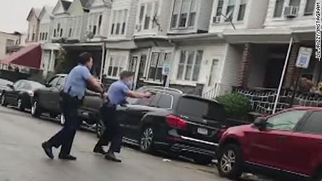This video still shows a fatal police-involved shooting that occurred earlier on Monday, October 26 in West Philadelphia that left a man dead.