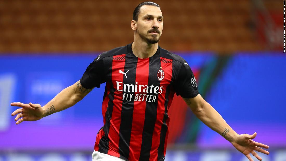 Zlatan Ibrahimovic Scores Twice As Serie A Leader Ac Milan Draws Against As Roma Cnn