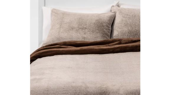Threshold Faux Fur Comforter & Sham Set