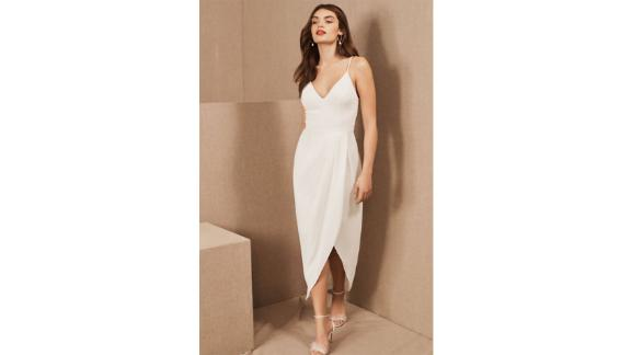 Caron V-Neck Crepe Dress