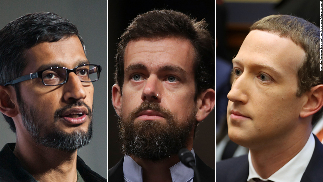 CEOs of Facebook, Twitter and Google set to be grilled in Senate hearing