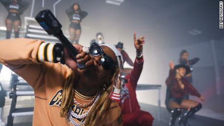 Rapper Lil Wayne performs with 2 Chainz at the 2020 BET Hip Hop Awards.