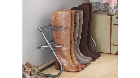 Whitmor Gunmetal 4-Pair Boot Stand
