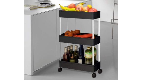 Solejazz Storage 3-Tier Rolling Cart