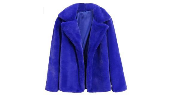 Sunmoot 2018 New Women Casual Warm Winter Long-Lapel Faux Fur Coat