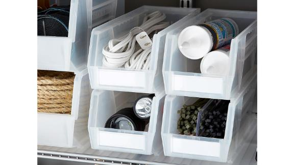 Utility Extra-Narrow Stackable Plastic Bins