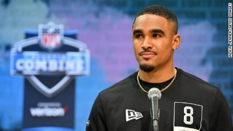 Rookie quarterback Jalen Hurts faced question marks over his ability to be an NFL quarterback despite a successful college career.