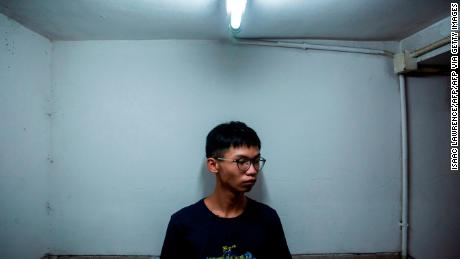 Hong Kong activist Tony Chung seen in August 2020. He was detained on October 27 under the city's national security law.