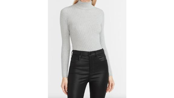 Fitted Ribbed Turtleneck Sweater