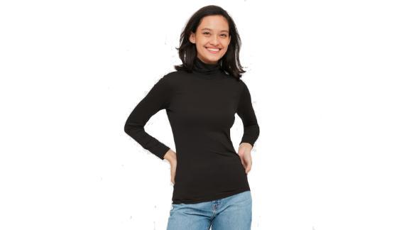 تی شرت یقه دار زنانه Heattech