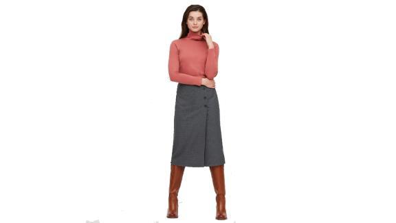 پیراهن آستین بلند یقه دار نخی زنانه