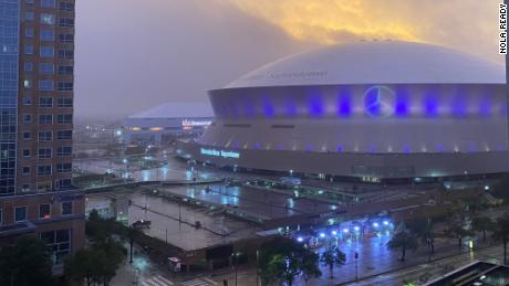 New Orleans Superdome Inside Zetaís Eyewall