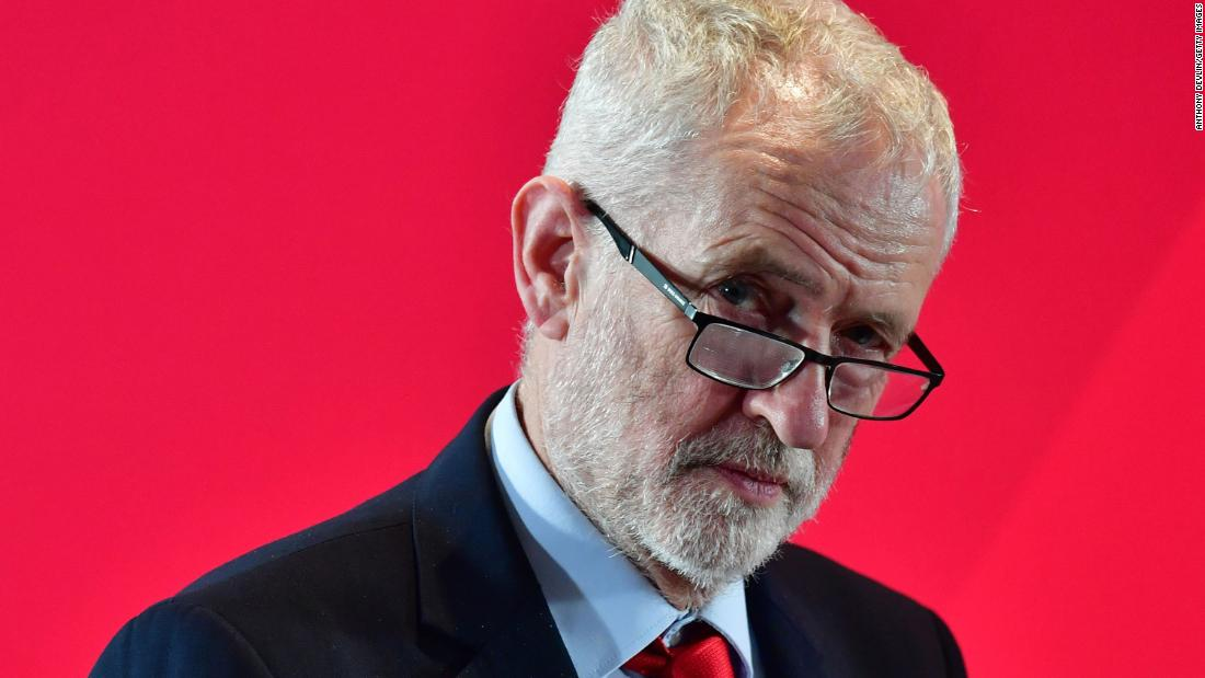 UK's Labour Party suspends former leader Jeremy Corbyn after anti-Semitism report
