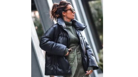 Bagatelle Oversize Faux Leather Puffer Jacke