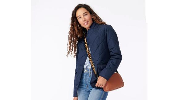 J.Crew Quilted Regent Blazer-Jacket With PrimaLoft