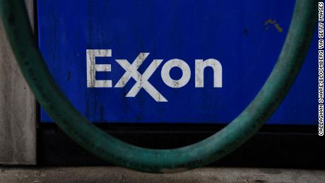 Signage at an Exxon Mobil Corp. gas station in Houston, Texas, U.S., on Wednesday, Oct. 28, 2020. Exxon is scheduled to release earnings figures on October 30. Photographer: Callaghan O'Hare/Bloomberg via Getty Images