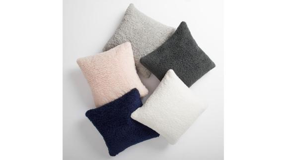 Pottery Barn Teen Cozy Recycled Sherpa Pillow Cover