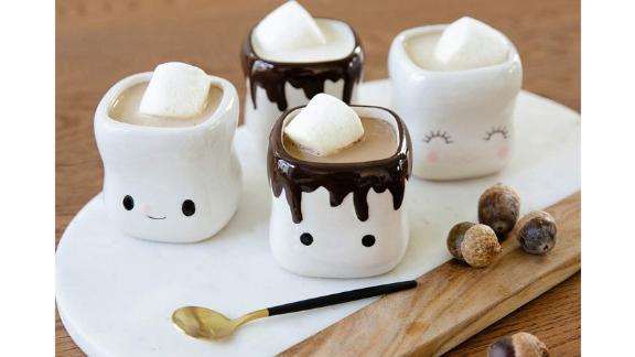 Avafort Marshmallow-Shaped Hot Chocolate Mugs, Set of 4
