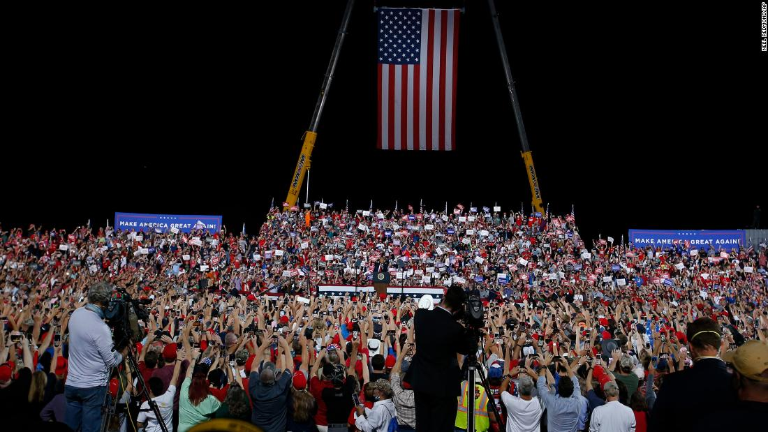 New rise in coronavirus cases in counties that held Trump rallies
