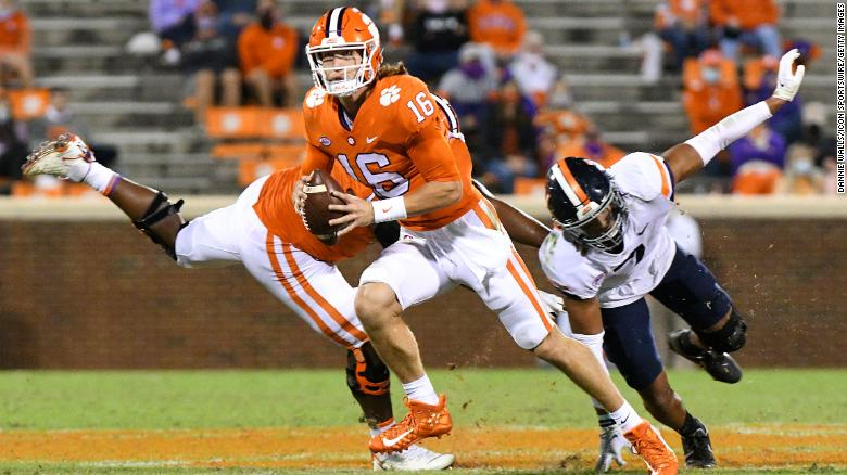 Clemson QB Trevor Lawrence tests positive for Covid-19, will not play Saturday against Boston College