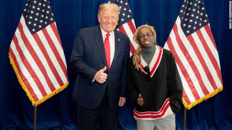 President Donald Trump met with rapper Lil Wayne in Miami on Thursday. Lil Wayne praised the president in a tweet.
