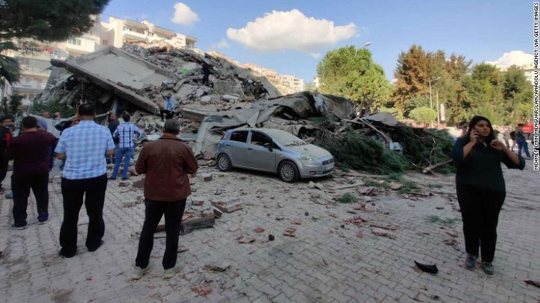 Magnitude-7.0 earthquake strikes off Greece and Turkey in the Aegean Sea