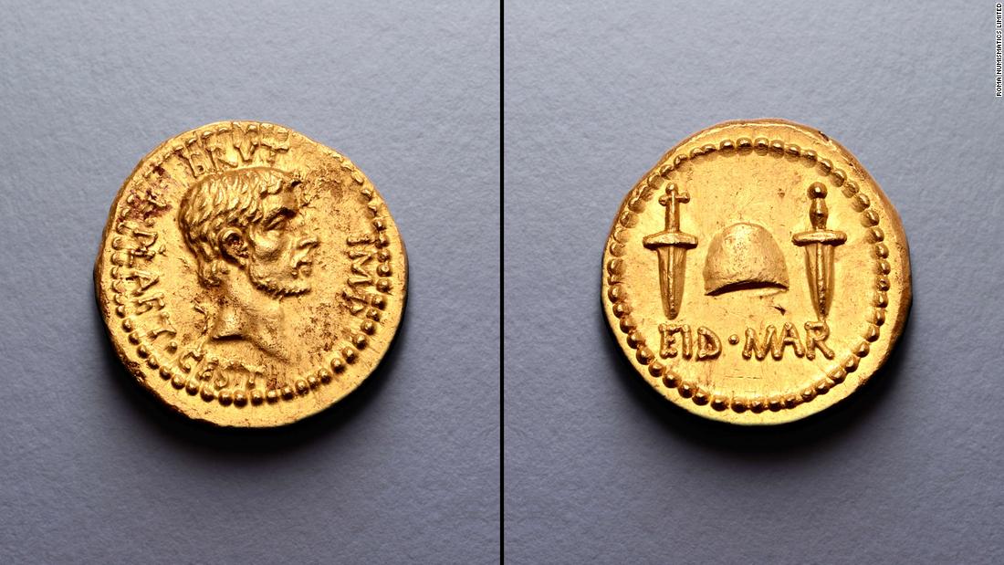 Ultra-rare coin celebrating Julius Caesar's assassination sells for record $3.4M