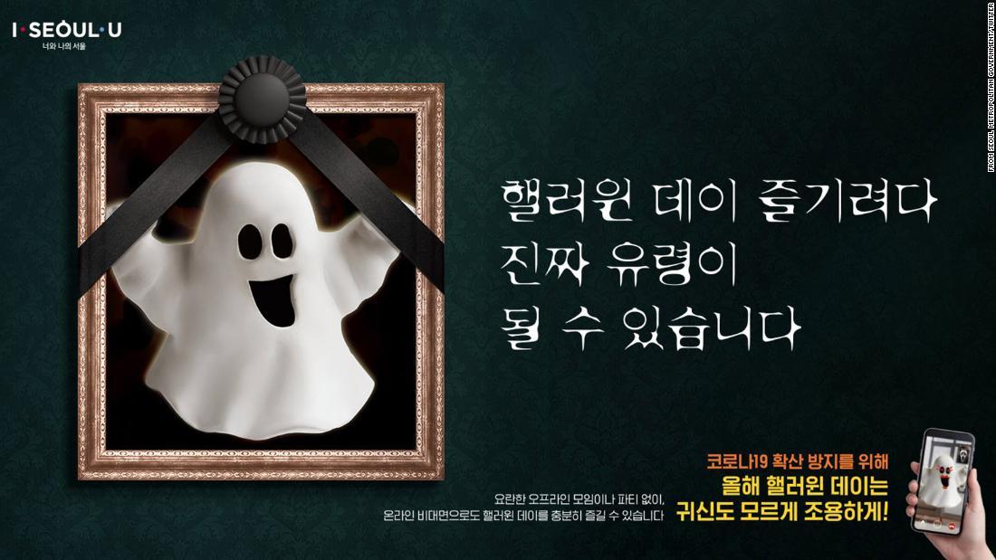 'Don't end up a real ghost,' South Korean officials warn, fearing a Halloween coronavirus resurgence