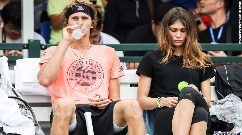Olya Sharypova: Ex-girlfriend of tennis star Alexander Zverev alleges abuse, player says 'simply not true'