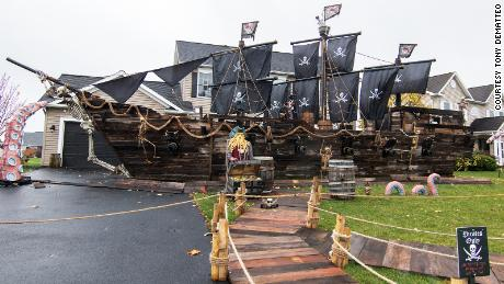 The pirate ship after it was completed.