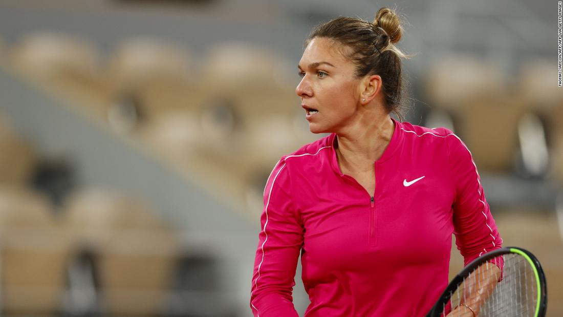 Simona Halep is recovering after testing positive for Covid-19