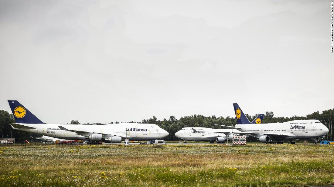 Six 747s flew into a Dutch airport -- but then couldn't leave