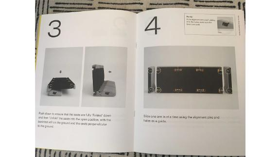 The instructions to put together the Burrow couch