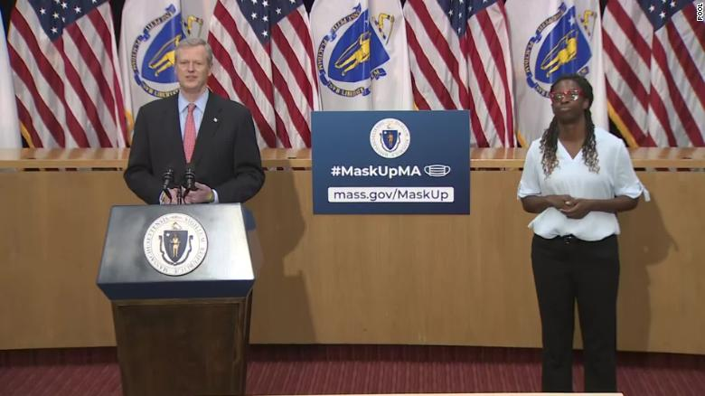 Massachusetts governor targets social gatherings in new stay-home order amid a surge in Covid-19 cases