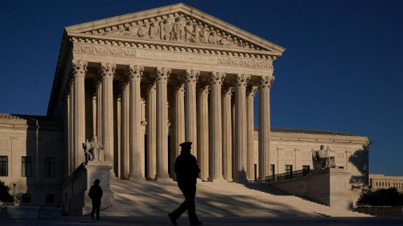 The Supreme Court is seen at sundown on the eve of Election Day, in Washington, Monday, Nov. 2, 2020. President Donald Trump and his reelection campaign are signaling they will pursue an aggressive legal strategy to try to prevent Pennsylvania from counting mailed ballots that are received in the three days after the election, a matter could find its way to the Supreme Court.