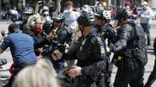 Rep. Joyce Beatty was hit with pepper spray after intervening between a policeman and protester in May.