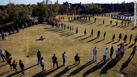 Voters lined up to vote in Oklahoma City.