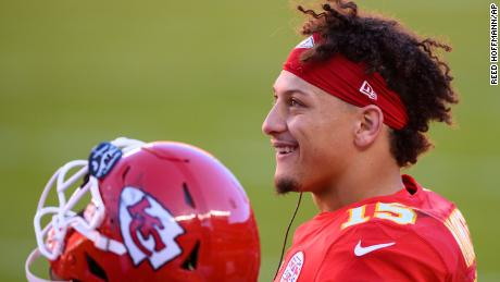 Kansas City Chiefs quarterback Patrick Mahomes says he wanted to use the stadium as a place where people could come together and vote.
