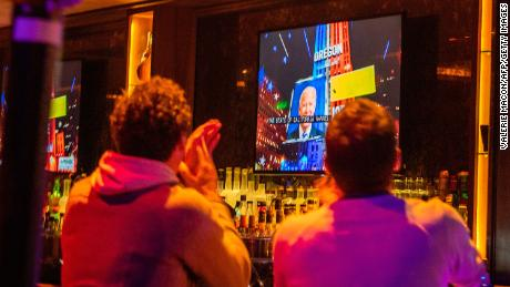 People reacted to the state of California is still the state of the Democratic party on election night in West Hollywood, California, on November 3.