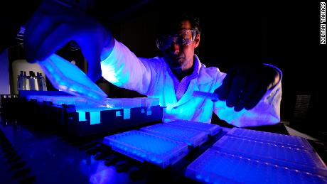 """Takacs, founder of ToxinTech, works with venom in the lab to create """"mosaic toxins."""""""