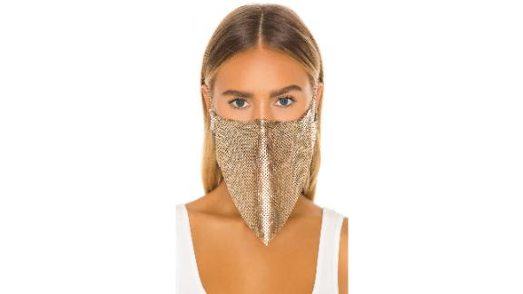 Grlfrnd Gold Chain Mail Face Mask