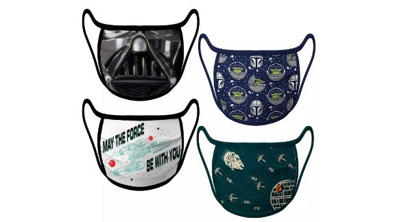 'Star Wars' Cloth Face Masks, 4-Pack Set
