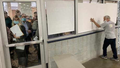 Right-wing media portrayed window covering at ballot center as nefarious. Here's what really happened