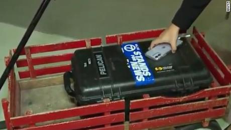 WXYZ television station has published content about a red digital wagon.