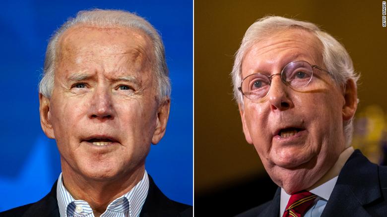 Democrats fear McConnell veto over Biden agenda